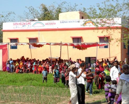 Sapna gezondheidskliniek in Bihar, India